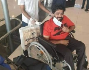hindu seva kendram helps differently able praveen to return home country from dubai