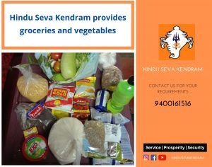 Hindu Seva Kendram provides groceries and vegetables