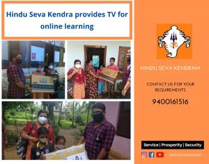 Hindu Seva Kendra provides TV for online learning