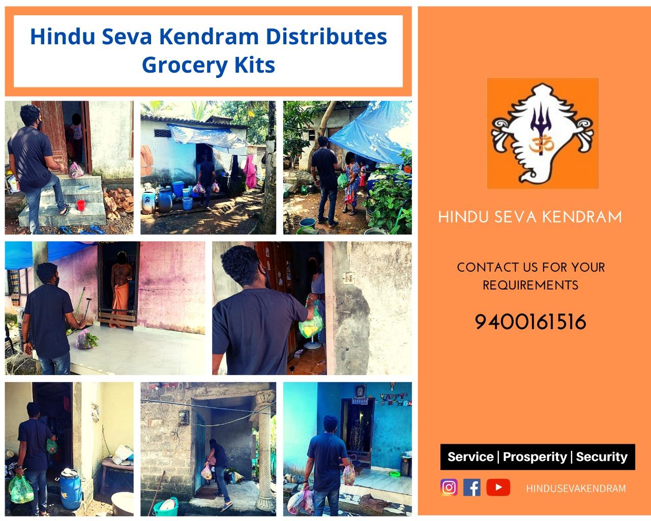 Hindu Seva Kendram Distributes Grocery Kits