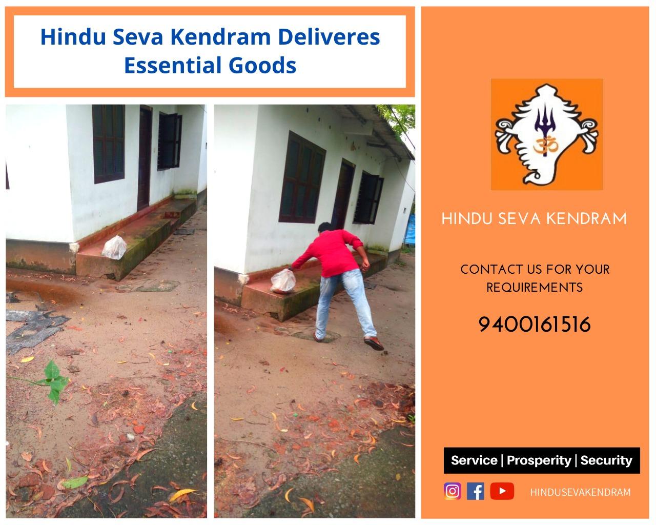 Hindu Seva Kendram Delivers Essential Goods.