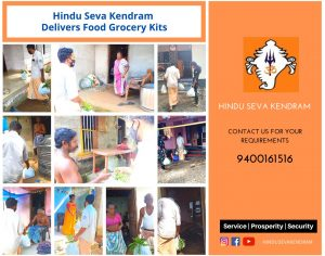 Hindu Seva Kendram Delivers Food Grocery Kits