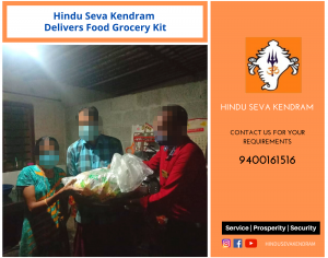 Hindu Seva Kendram Delivers Food Grocery Kit