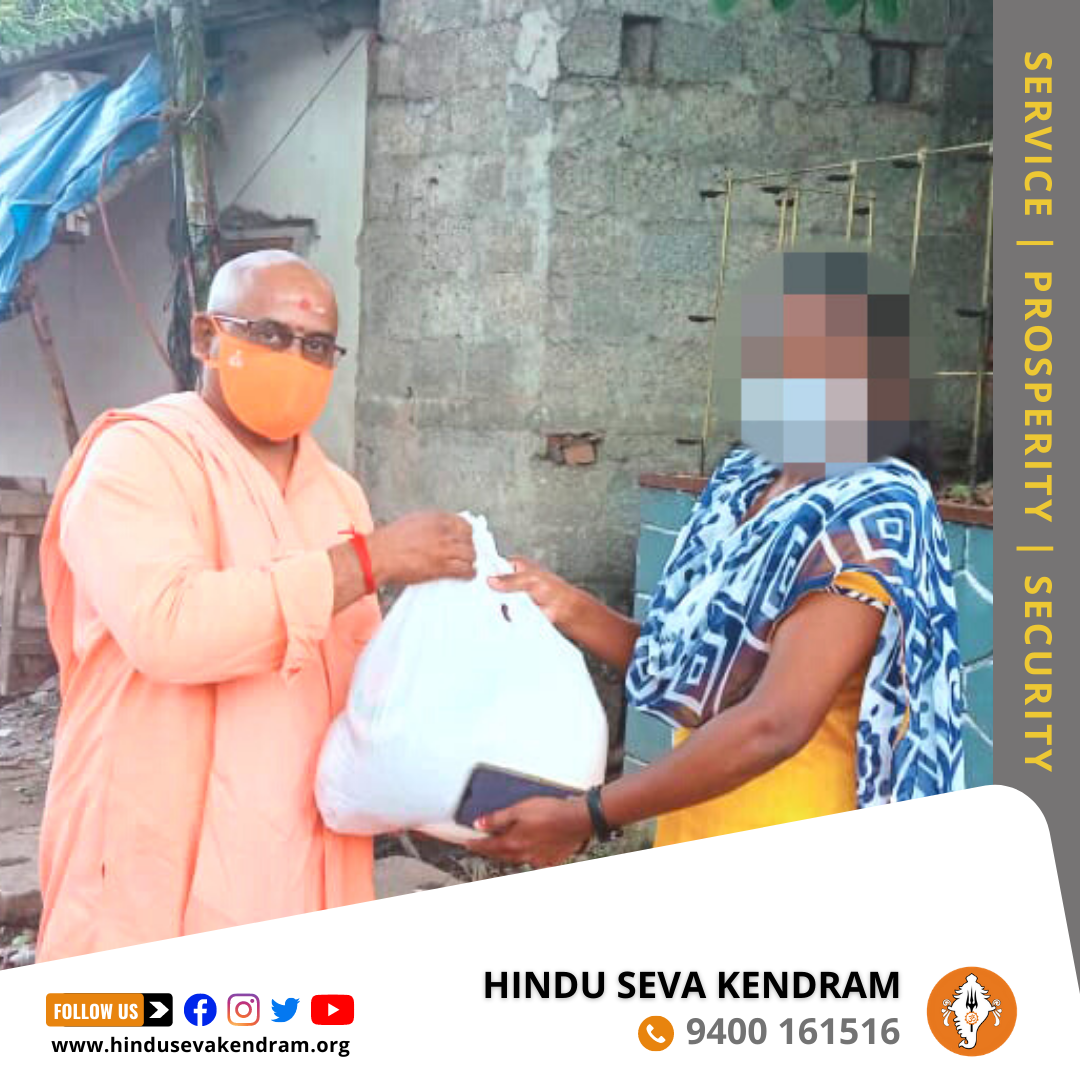 Grocery Kits Distributed to Covid Affected Hindus