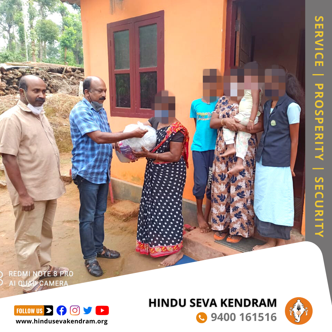 Hindu Seva Kendram Delivers Grocery Kit