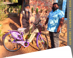 Hindu Seva Kendram Donated a Bicycle to the Student