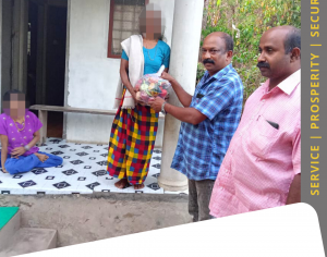 Hindu Seva Kendram supplied Grocery & Vegetable Kits to a Helpless Family